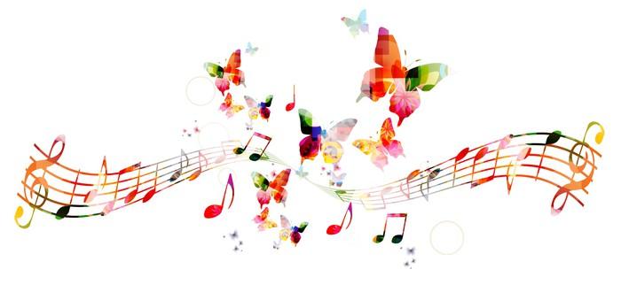 Разноцветные ноты